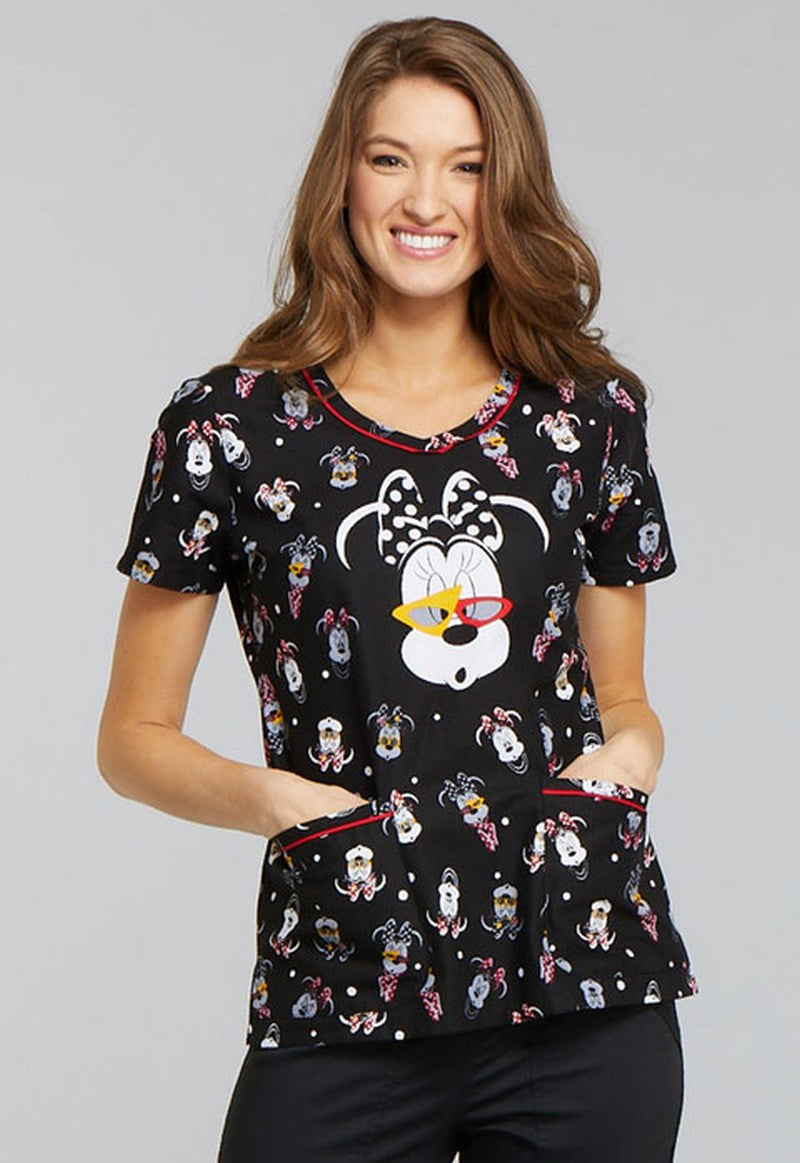 Disney by Cherokee Minnie Mouse Scrubs (Beyond Cute)
