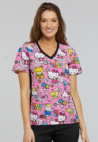 Hello Kitty by Cherokee Scrub Top (Color Me Hello Kitty)