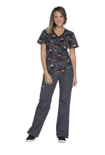 Disney by Cherokee Minnie Mouse Scrubs (Buttons And Bows)