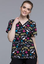 Cherokee Women's DC Comics Batman Scrub Top (Batman Freeze)