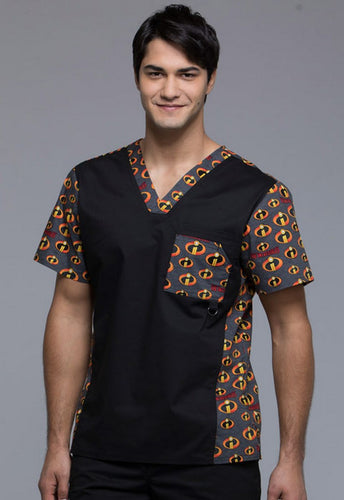 831ba999c23 Cherokee Unisex Scrub Print Top (The Incredibles)