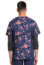 Cherokee Mens Tooniforms Marvel Avengers Scrub Print (Star Power)