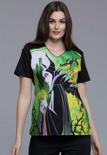 Disney by Cherokee Halloween Scrubs (Disney Villains)