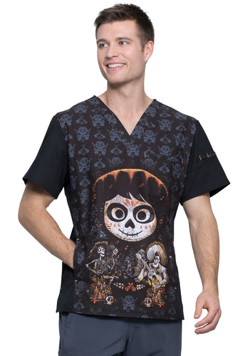 Cherokee Men's V-Neck Top Disney•Pixar Coco