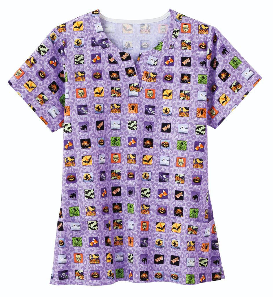 Bio Halloween Women's Print Top (Spooky Apps)