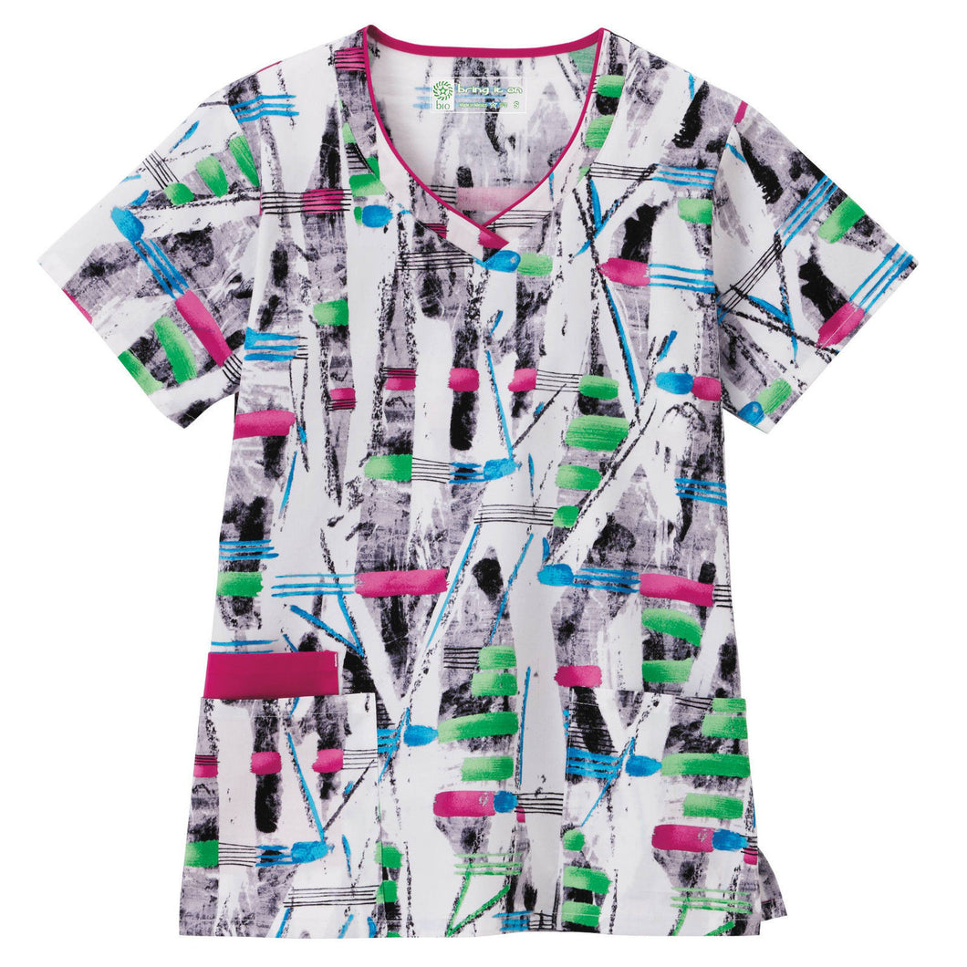 Bio Women's Print Top ( Scatter )