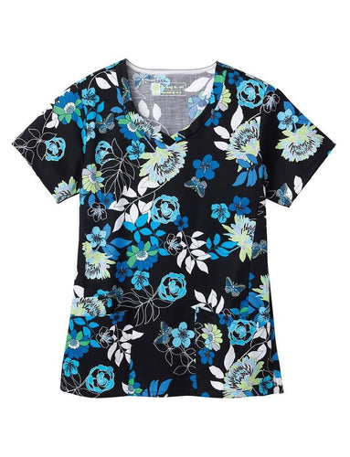Bio Women's Print Top (Blue Ming)
