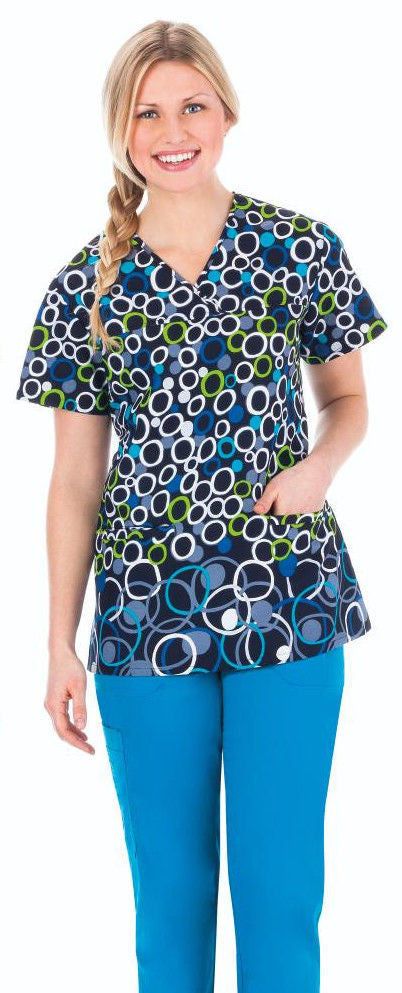 Bio Women's  Print Top ( Loop-De-Loop )