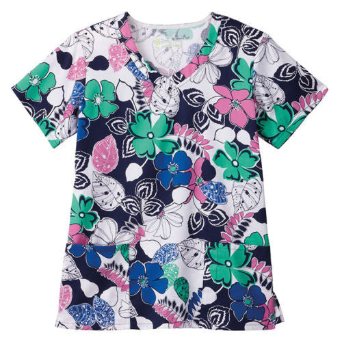 Bio Women's Print Top (Bright Blooms)