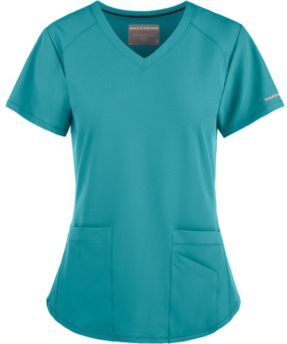 Skechers Vitality V-Neck Teal Scrub Top