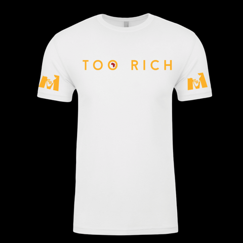 Too Rich Men's White Tee