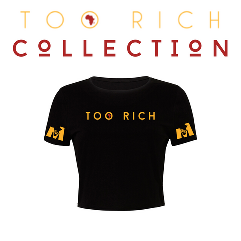 Too Rich Crop Top (Black)