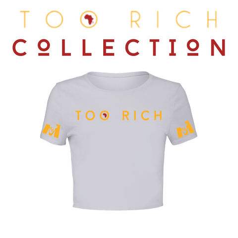 Too Rich Crop Top (White)