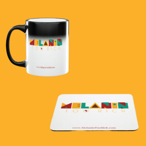 Retro Mouse Pad and Color Changing Mug Gift Set