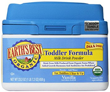 Earth's Best Organic Vanilla Toddler Formula - Case Of 4 - 23.2 Oz.-Earth's Best-pantryperks