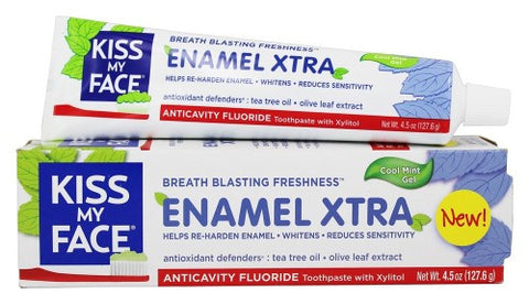 Kiss My Face Enamel Extra Toothpaste - Case Of 1 - 4.5 Oz.-Kiss My Face-pantryperks