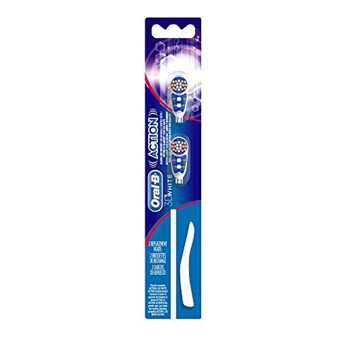Oral-B 3D White Action Replacement Toothbrush Heads - 2 Count-Oral-B-pantryperks