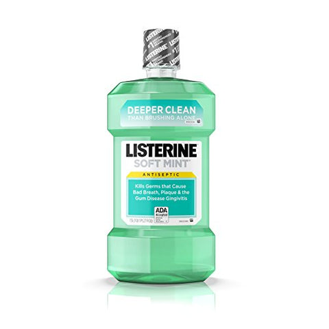 Soft Mint Listerine Antiseptic Mouthwash For Bad Breath Germs - 1.5 L-Listerine-pantryperks