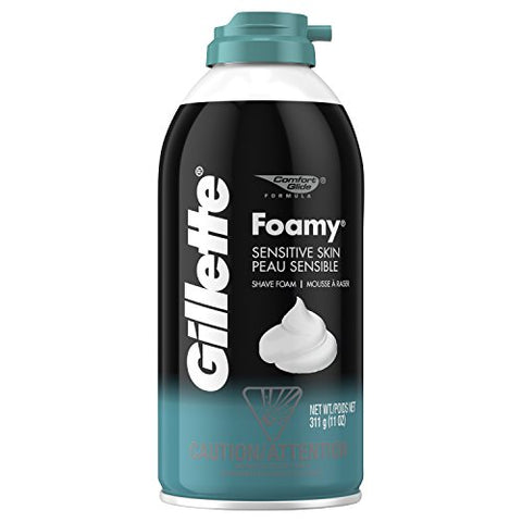 Gillette Foamy Shaving Cream - Sensitive Skin - 11 Ounce-Gillette-pantryperks