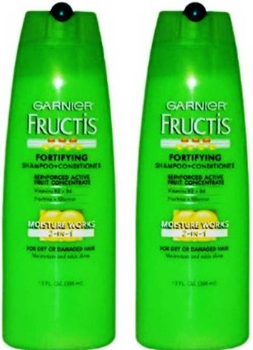 Garnier Fructis Moisture Works 2-in-1 Shampoo and Conditioner - 13 Fluid Ounce Pack of 2-Garnier-pantryperks
