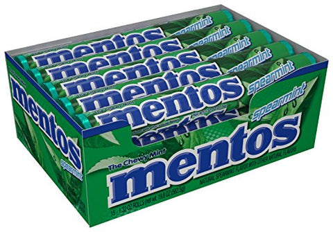 Mentos Chewy Mint Candy Roll - Spearmint - 1.32 ounce/14 Pieces - Pack of 15-Mentos-pantryperks