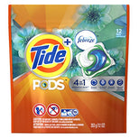 Tide PODS Plus Febreze - Botanical Rain - HE Turbo Laundry Detergent Pacs 12-load Bag-Febreze-pantryperks