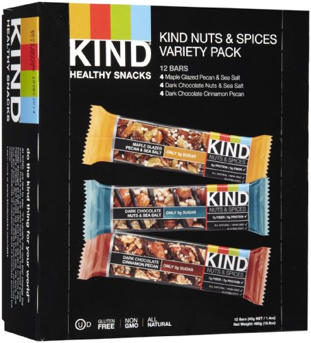 KIND Bars - Nuts and Spices Variety Pack - Gluten Free - 1.4 Ounce Bars - 12 Count-Kind Healthy Snacks-pantryperks