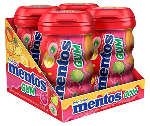 Mentos Sugar-Free Chewing Gum - Red Fruit Lime - 50 Piece Bottle - Pack of 4-Mentos-pantryperks