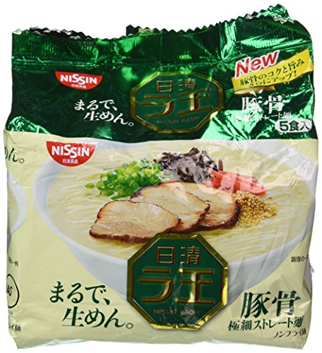 Nissin - Raoh - Japanese Instant Ramen Noodles - Pork Bone Soup - 14.8oz - for 5 Servings[Japan Import]-Nissin-pantryperks