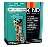 KIND Bars - Dark Chocolate Almond Mint - Gluten Free - 1.4 Ounce Bars - 12 Count-Kind Healthy Snacks-pantryperks