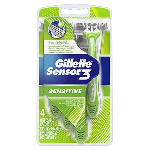 Gillette Sensor3 Men's Disposable Razors - 4 Count-Gillette-pantryperks