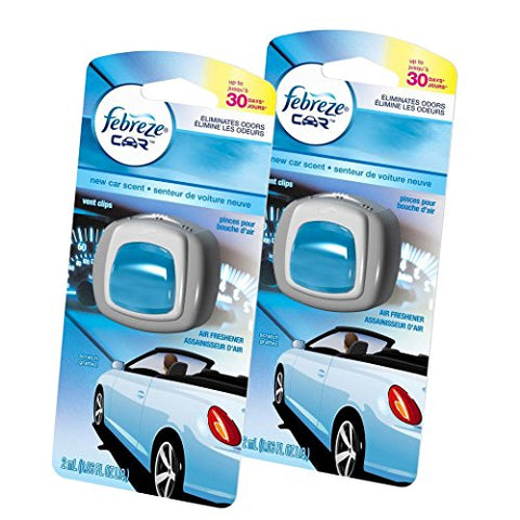 Febreze Air Freshener - Car Vent Clip Air Freshener - New Car Air Freshener - 2 Count-Febreze-pantryperks