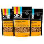 KIND Healthy Grains Granola Clusters - Oats and Honey with Toasted Coconut - Gluten Free - 11 Ounce Bags - 3 Count-Kind Healthy Snacks-pantryperks