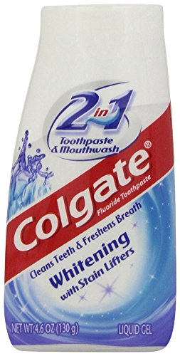 Colgate 2-in-1 Whitening Toothpaste Gel and Mouthwash - 4.6 ounce-Colgate-pantryperks