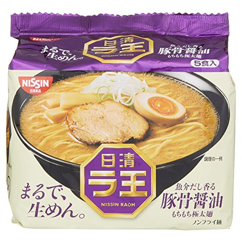 Nissin - Raoh Japanese Instant Ramen Pork Bone Soy Soup Noodles - For 5 Servings-Nissin-pantryperks