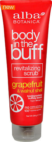 Alba Botanica Body In The Buff Scrub - Grapefruit And Walnut Shell - Case Of 1 - 9 Oz.-Alba Botanica-pantryperks