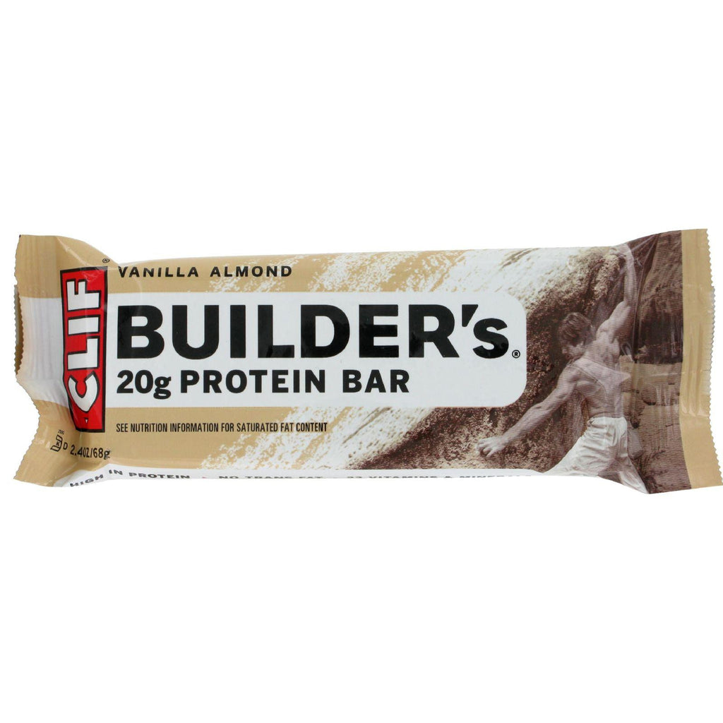 CLIF BUILDER'S - Protein Bar - Vanilla Almond - - 2.4 Ounce Bar - 12 Count-Clif Bar-pantryperks