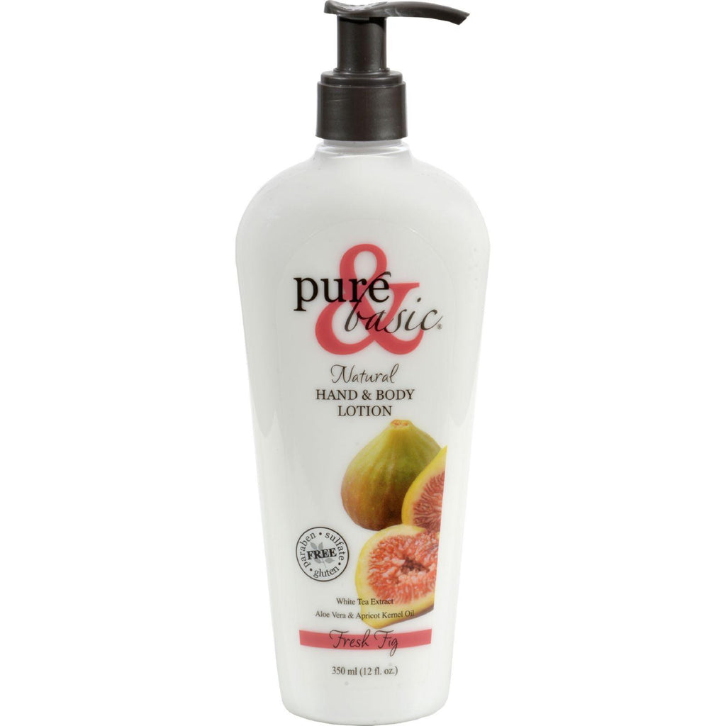 Pure And Basic Hand And Body Lotion - Fresh Fig - 12 Oz-Pure And Basic-pantryperks