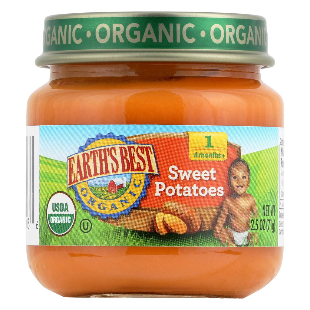 Earth's Best Organic Baby Food Stage 1 Sweet Potatoes - 2.5 oz-Earth's Best-pantryperks