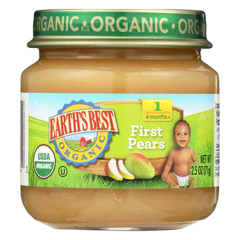 Earth's Best Organic Baby Food Stage 1 First Pears - 2.5 oz-Earth's Best-pantryperks