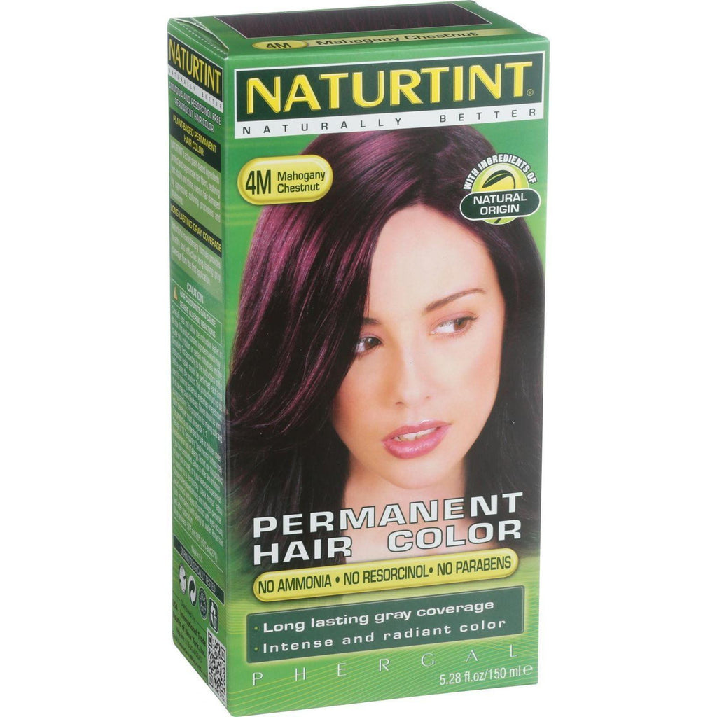Naturtint Permanent Hair Color 4M Mahogany Chestnut - 5.28 fl oz-Naturtint-pantryperks