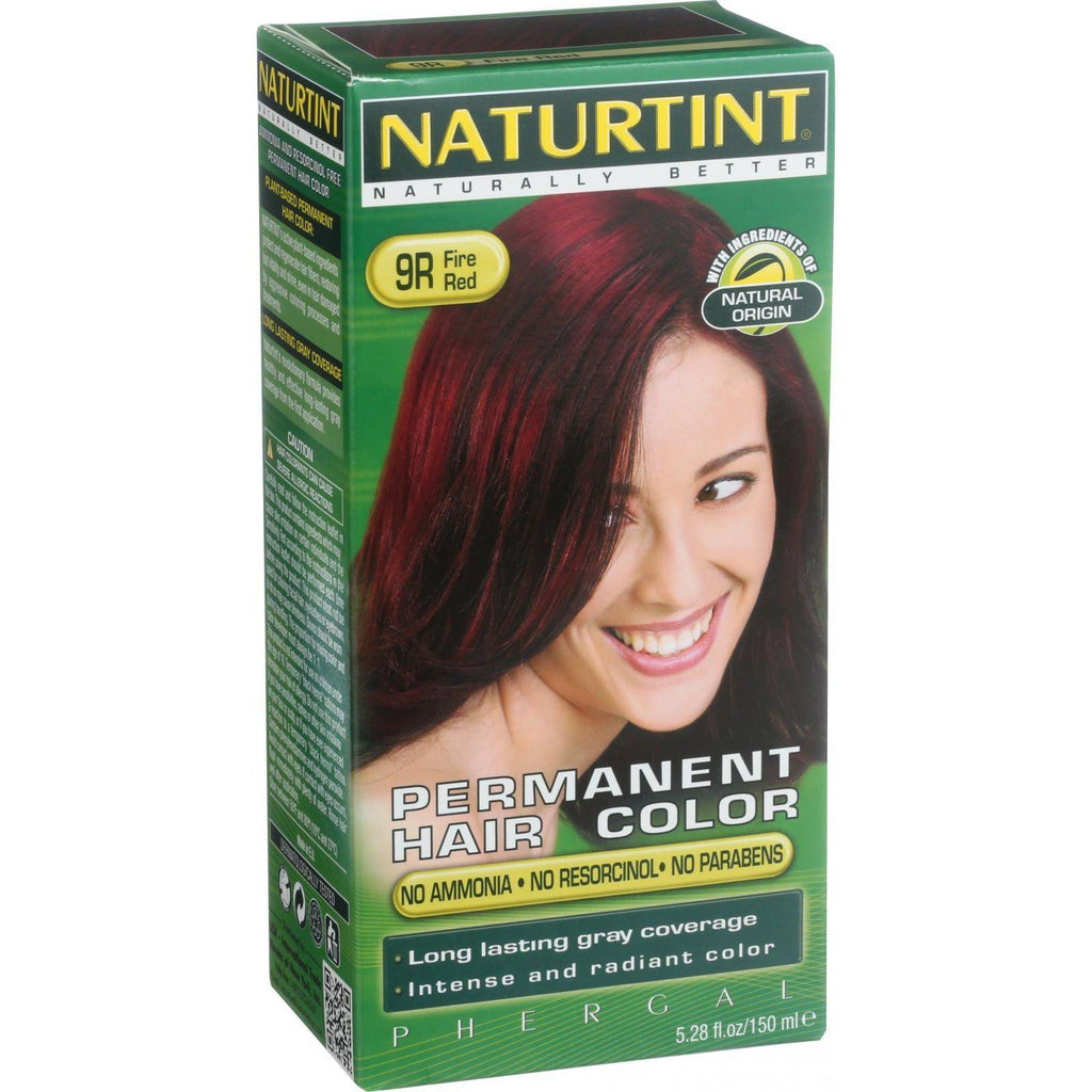 Naturtint Permanent Hair Color 9R Fire Red - 5.28 fl oz-Naturtint-pantryperks