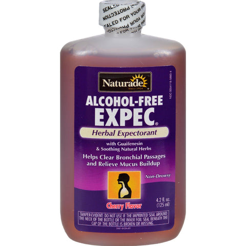 Naturade Alcohol-free Herbal Expectorant - Natural Cherry Flavor - 4.2 Oz-Naturade-pantryperks