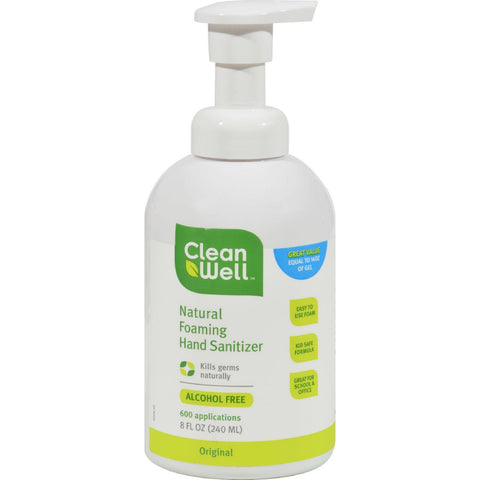 Cleanwell Hand Sanitizing Foam - 8 Oz-Cleanwell-pantryperks