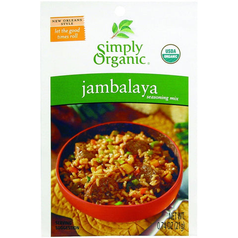 Simply Organic Seasoning Mix Jambalaya - 0.74 oz-Simply Organic-pantryperks