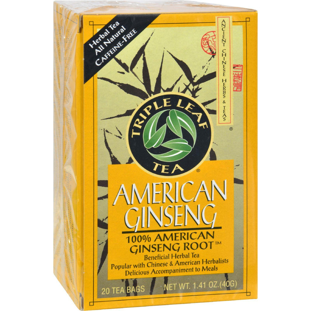 Triple Leaf Tea American Ginseng - 20 Tea Bags-Triple Leaf Tea-pantryperks