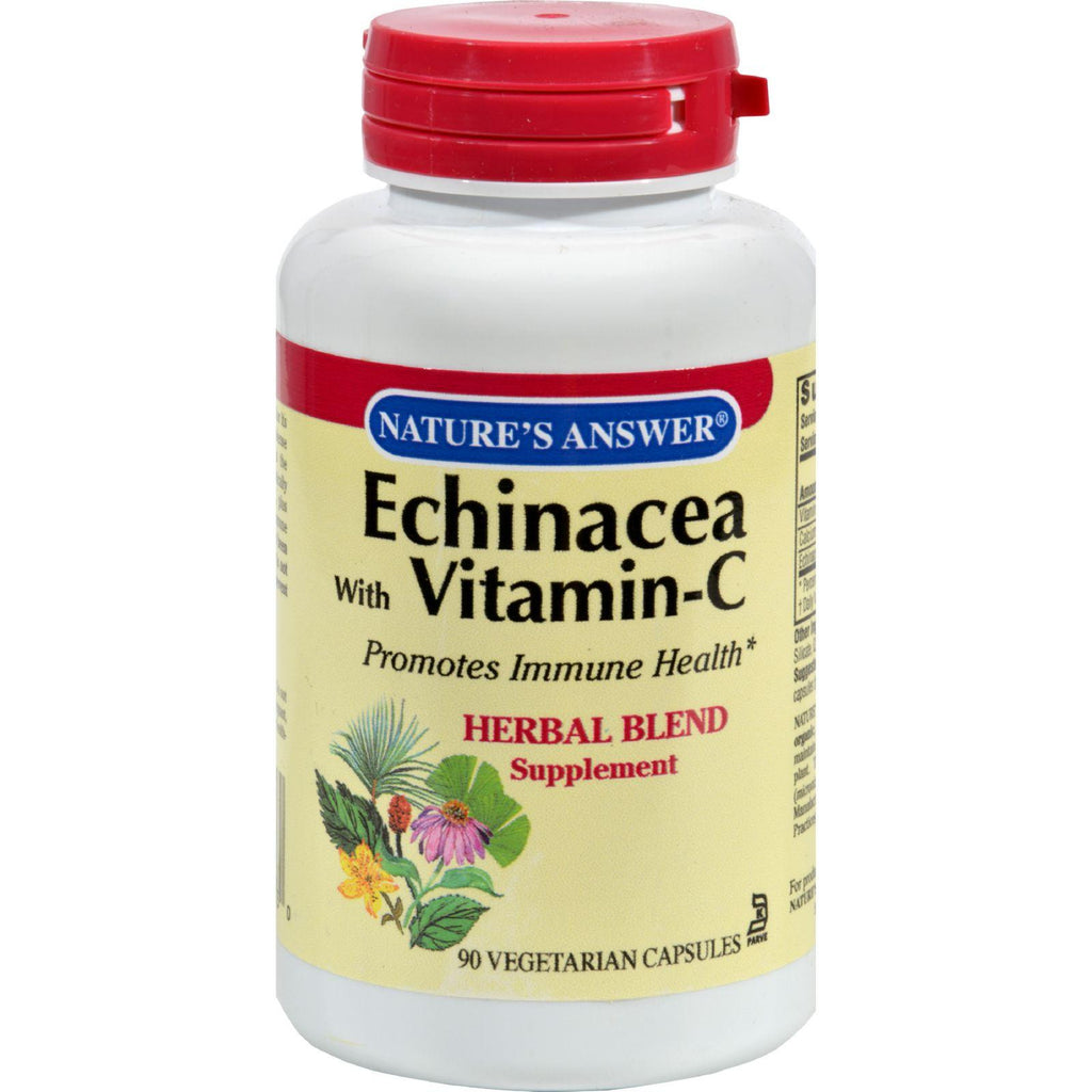 Nature's Answer Echinacea With Ester C - 90 Vcaps-Nature's Answer-pantryperks