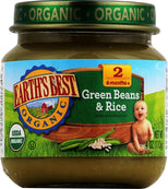 Earth's Best Organic Baby Food Stage 2 Green Beans and Rice - 4 oz-Earth's Best-pantryperks