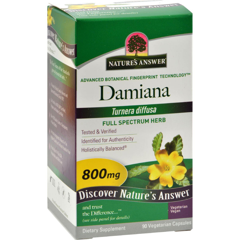 Nature's Answer Damiana Leaf - 90 Vegetarian Capsules-Nature's Answer-pantryperks