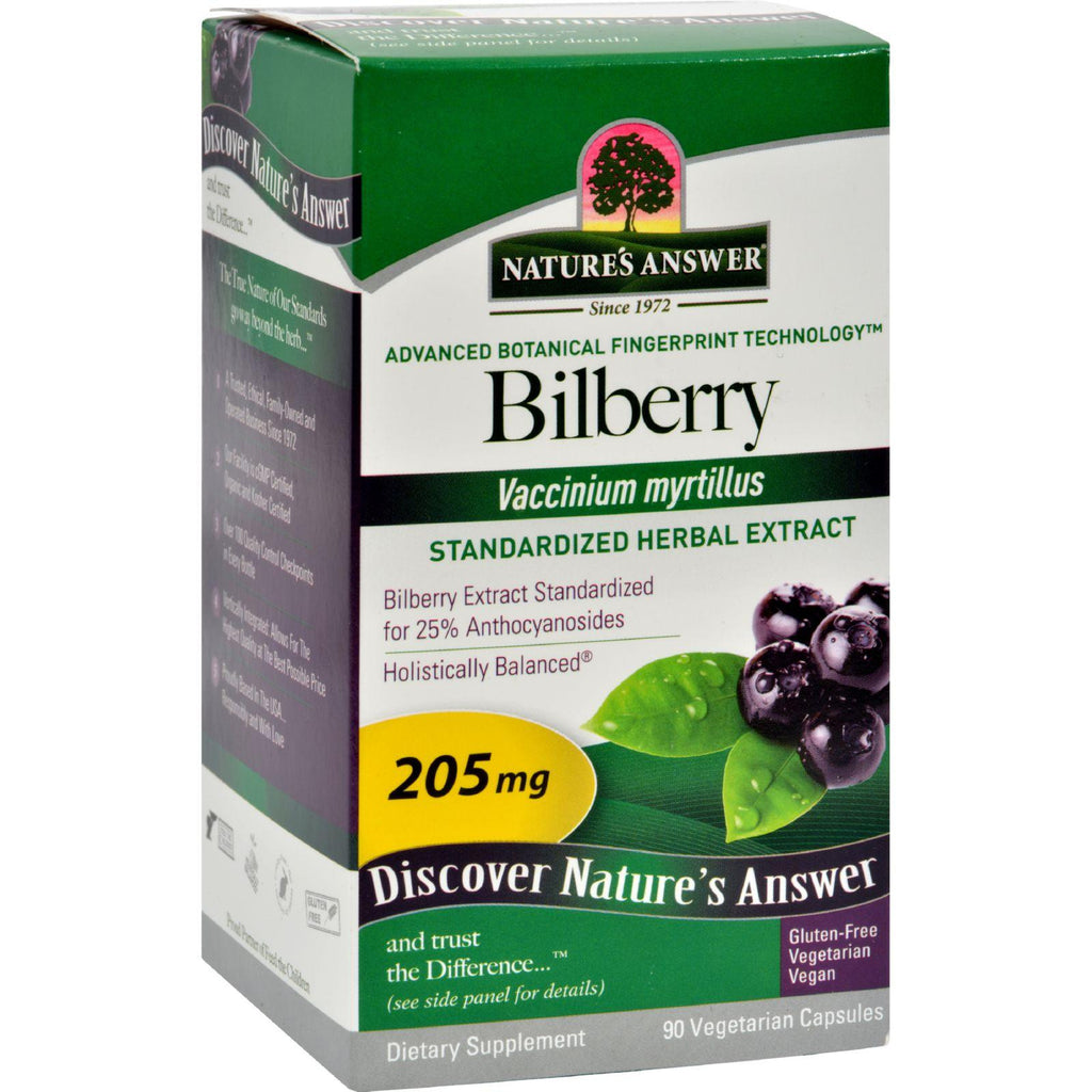 Nature's Answer Bilberry Extract - 90 Vegetarian Capsules-Nature's Answer-pantryperks